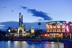 Chocolate Emporium Restaurant & Hard Rock Cafe at Universal Studios CityWalk in Orlando, Flo stock photo