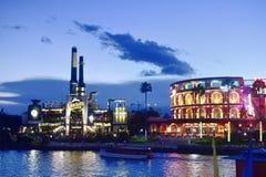 Chocolate Emporium Restaurant & Hard Rock Cafe at Universal Studios CityWalk in Orlando, Flo royalty free stock images