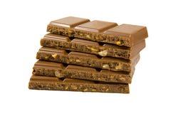 Chocolate en barras Imagen de archivo libre de regalías