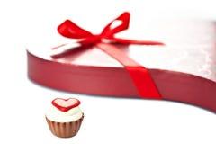 Chocolate en forma de corazón Foto de archivo