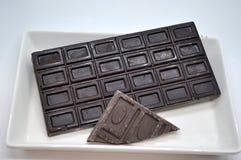 Chocolate en la bandeja Fotos de archivo libres de regalías