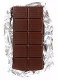 Chocolate en una hoja Foto de archivo