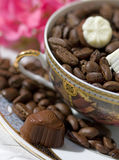 Chocolate end coffee Royalty Free Stock Images