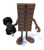 Chocolate energy sports concepts Stock Photo