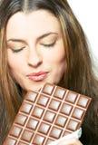 chocolate enjoying Στοκ Εικόνες