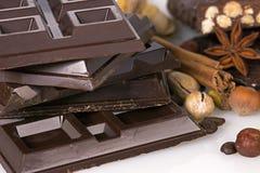 Chocolate escuro Fotografia de Stock Royalty Free