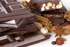 Chocolate escuro Imagens de Stock