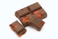 Chocolate escuro isolado Imagem de Stock