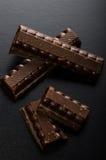 Chocolate escuro 50 por cento de cacau Imagens de Stock