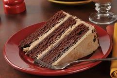 Chocolate espresso cake Royalty Free Stock Images