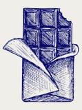 Chocolate. Estilo del Doodle Imagen de archivo libre de regalías