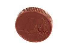 Chocolate euro aislado Imágenes de archivo libres de regalías