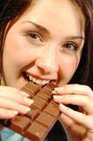 Chocolate eyes Stock Images