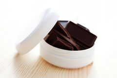 Chocolate face cream Royalty Free Stock Image