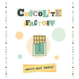 Chocolate factory banner Royalty Free Stock Photo