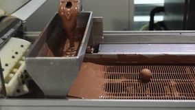 Chocolate factory stock footage