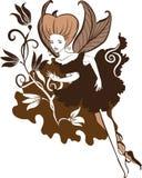 Chocolate Fairy vector illustartion Stock Image