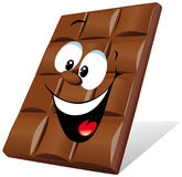 Chocolate feliz ilustração stock