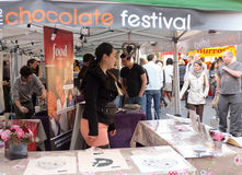 Chocolate Festival Market Stall, London Stock Photo