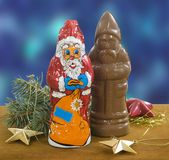 Chocolate figures Stock Photography