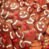 Chocolate figures closeup Stock Photography