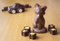 Chocolate figures Stock Image