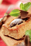 Chocolate filled puff pastry Stock Photos