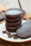 Chocolate Filled Sandwich Cookies Stock Photo