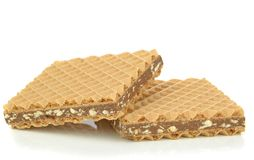 Chocolate filled wafer biscuits Royalty Free Stock Photos