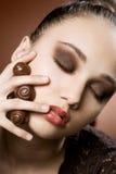 Chocolate fine art. Stock Photos