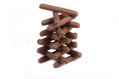 Chocolate Finger Biscuits Royalty Free Stock Images