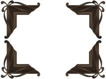 Chocolate Finish Photo Corner Stock Image