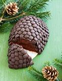 Chocolate fir cone Royalty Free Stock Photos