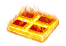 Chocolate in fire royalty free stock photography