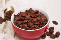 Chocolate flakes in bowl Stock Photo