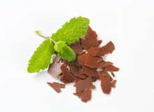 Chocolate flakes Stock Images