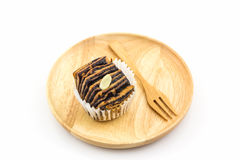 Chocolate flaky mini bread. Royalty Free Stock Images
