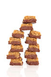 Chocolate and Flapjack Chunks Royalty Free Stock Images