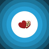 Chocolate Flat Icon. Shaped Box Vector Element Can Be Used For Chocolate, Shaped, Box Design Concept. Stock Photography