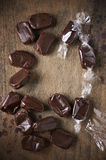 Chocolate flavor toffee Stock Photography