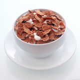 Chocolate flavored breakfast cereal Royalty Free Stock Photo