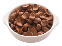 Chocolate flavored cereal Stock Photos