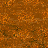 Chocolate floral wallpaper Stock Image