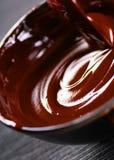 Chocolate flow Stock Photo