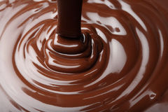 Chocolate flow royalty free stock photos