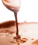 Chocolate flow stock photography