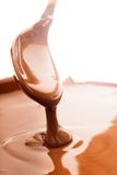 Chocolate flow Stock Image