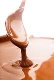 Chocolate flow stock image