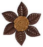 Chocolate flower isolated Stock Images