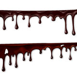 Chocolate flowing, in motion, drops of chocolate drip,. Vector royalty free illustration